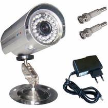 Câmera Monitoramento Cftv+ Fonte + Conectores + Frete Grátis