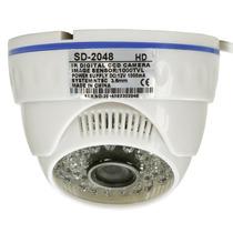 Camera Dome Cftv 1000l 36 Led Circuito Interno Visão Noturna