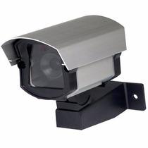 Mini Câmera Segurança Falsa Com Led Cftv