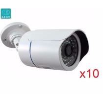 Kit10 Câmeras Infravermelho 50mt 1500 Linhas Hd Ir Cut E Blc