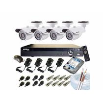 Kit3 Câmeras De Segurança, Cftv, Dvr, Hd, Instalação Inclusa