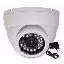Camera Dome Seguranca Ccd Color 1/3 Infra 24 Led 1200 Linhas