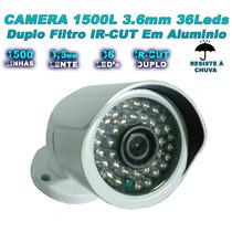 Câmera Infravermelho 1500 Linhas Filtro Ir Cut 60 Mts