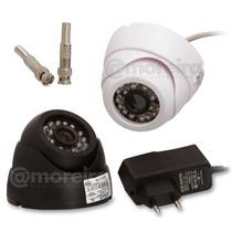 Kit 4 Cameras Dome Cftv 1000l 24 Leds Infra Circuito Interno