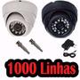 Câmera Dome Ccd Infra 24 Leds 20m 800 Linhas - Frete Grátis