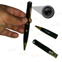 Caneta Espia Hd Camera Filmadora Video Com Áudio + 8gb