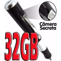 Caneta Espiã Filmadora Câmera + Brinde Sd 32gb + Adaptador