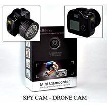 Micro Câmera Espiã Spy Alta Resolução + Bateria + Cabo Usb