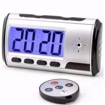 Relógio Despertador Espião Controle Remoto Sensor Movimento