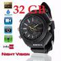 8 Gb Relógio Espião Pulso Visão Noturna Filma Em Hd1080p