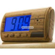 Relógio Despertador Espião C/camera E Detector De Movimentos