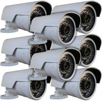 Lote 8 Câmera Canhão Ip 1.3mp Hd 720p Onvif 2.4 Pega Placa