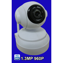 Camera Ip Wifi Onvif Hd 960p 1.3mp 360º Pantilt 4mm C/ Audio