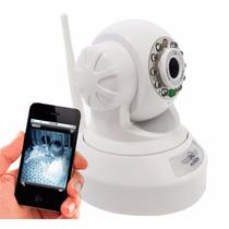Câmera Ip Dvr Sem Fio Wifi Alarme Gravador Rj45 Micro Sd
