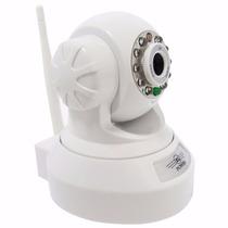 Câmera Ip Dvr Sem Fio Wifi Alarme Gravador Rj45 Branca