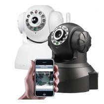 Câmera Ip Preta Wifi Preto P2pcamviwer Sysm Monitor P2p Dns