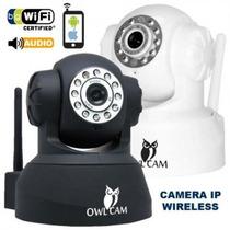 Câmera Ip Wireless Owl Cam Tilt Pan Zoom Preta Nota Fiscal