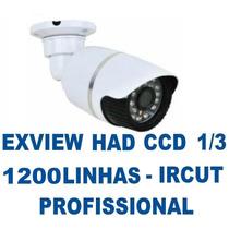 Camera Infra Noturna 40mt Ccd Sony 1/3 1200tvl Ir-cut +fonte