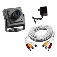 Kit Segurança E Monitoramento C/ Mini Camera + Fonte + Cabo