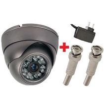 Câmera Segurança Dome Infra Vermelho Brinde Fonte + Conector