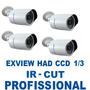 Kit 4 Cameras Infra 30mt Ccd Sony 1/3 800 Tvl Ir-cut + Fonte