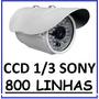 Camera Infra Vermelho 30mts Ccd Sony 1/3 700 Linhas + Fonte