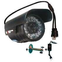 Câmera 60 Metros Infravermelho 1200 Linhas Lente 8mm