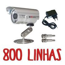 Câmera Ccd Digital Infravermelho 30m Brinde Fonte + Conector