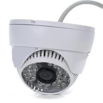 Camera Dome 24 Leds Ccd Infra Vermelho 20mts 700linhas 3,6mm