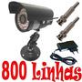 Câmera Ccd Cftv Digital Infravermelho 36 Leds 600 Linhas