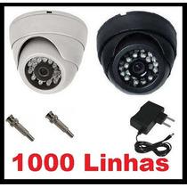 Camera Dome Ccd Infra Vermelho 24 Leds 20mts 600linhas 3,6mm