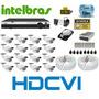 Kit 16 Camera Hdcvi 720p Hd Ir Dvr 16 Canais Intelbras Hdcvi