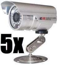 Kit Com 5 Câmera Profissional Infravermelho 1000 Linhas Co82