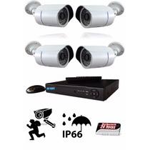 Kit 4 Câmeras 1500 Linhas Blc E Ir Cut + Dvr De 4 Canais