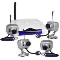 Câmeras De Seguraça (04) Sem Fio Wireless + Receptor Para Tv
