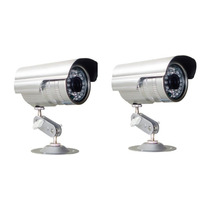 2 Câmeras De Segurança Interna E Externa Leds Infravermelho