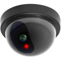 Camera De Segurança Residencial Falsa Globo Led Vermelho 12c