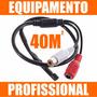 Microfone Ativo Amplificado P/ Camera Cftv Dvr Alcance 40m²