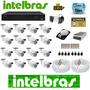 Kit 16 Cameras Dvr Intelbras 16 Canais 3116 Tudo Intelbras #