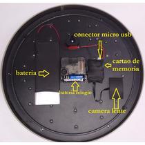 Relogio De Parede Espiao Camera Escondida + Controle Remoto