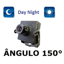 Mini Camera Ccd 1/3 Sony 500linhas Lente 1,9mm Angulo 150°