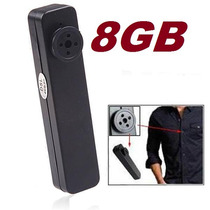 Botão Espião Com Câmera Spy 8 Gb Filmadora Com Aúdio+foto