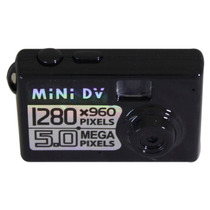 Mini Filmadora Camera Detetive Hd Dv Espiã 5.0 Mp Microfone