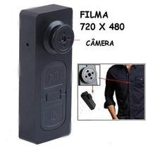 Botão Espião Micro Câmera Escondida Tipo Caneta Espiã