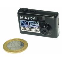 Mini Camera Filmadora Espião Espiã Hd Audio Video Mini Dv