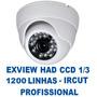 Kit 4 Câmera Infra Dome 30mt Ccd Sony 1/3 Ircut Lente 2,8 Mm