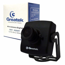 Mini Camera Greatek Digital 480 Linhas Real 3,6mm Segc M140g