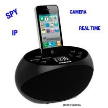 Dock Station Wi-fi Espiao C/camera Ip Tempo Real P/celular