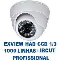 Kit 10 Camera Segurança Infra Dome Exview Ccd Sony 1/3 Ircut