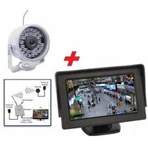 Micro Mini Câmera Sem Fio Infra Kit Com Mini Monitor Lcd
